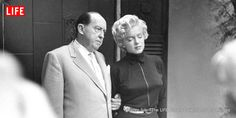 """Pictures from the day Marilyn Monroe announced she was seeking a divorce from Joe DiMaggio on grounds of """"mental cruelty."""""""