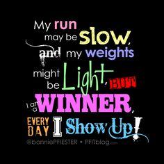 Motivation: I am a winner!! #fitfluential
