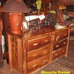Rustic Mesquite Dresser from Texas Hill Country Furniture