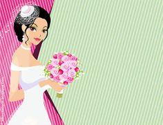 Plantilla invitación novia con ramo