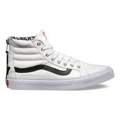 3b5f701c68 Vans Sk8 Hi Slim Zip True White Snow Leopard Womens Vans Sneakers