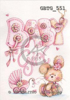 Theresa, BABIES, paintings, GBTG551,#b# bébé, illustrations, pinturas