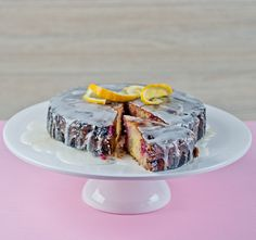 Lemon Berry Polenta Cake | Recipe: http://www.strandsofmylife.com/lemon-berry-polenta-cake-moist-delicious-and-gluten-free/#&disp=169937