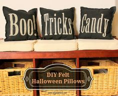 I Dig Pinterest: DIY Felt Halloween Pillows (created with the help of my Silhouette)