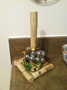 Wine Cork Bracelet Holder
