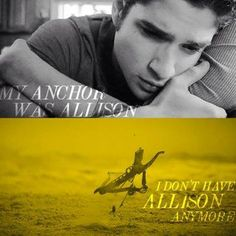 The feels... Oh, oh the feels... Teen Wolf-Scott #RIP Alison