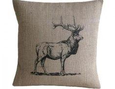 Vintage Deer Pillow Cover
