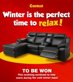 Enter to #win a #free reclining sectional #couch from #economax! #Contest open to residents of #Canada only http://woobox.com/zox8jg/ih6qzl #giveaway #furniture #homedecor #prize #2017 #decor #sofa