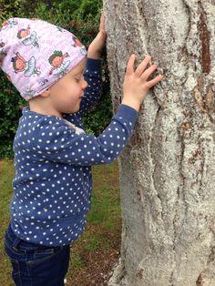 Blind child discovering nature #tayensjourney