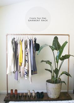 Learn how to make your own DIY Garment Rack with these easy step by step instructions.