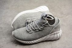 official photos ff07b ac46c Men s adidas Tubular Doom Sock Primeknit Grey White Grey CQ0684