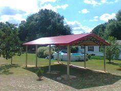 20x30x10 Steel Truss Metal Roof Pole Barn