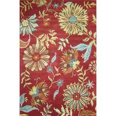 @Overstock - The Antoinette rug celebrates dramatic floral blossoms in a rich texture. This elegant rug is hand-tufted of pure wool in India and features a palette that explodes with warm, contrasting tones.http://www.overstock.com/Home-Garden/Hand-tufted-Antoinette-Red-Wool-Rug-93-x-13/6613817/product.html?CID=214117 $834.99