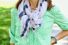 Flower Patch Farmgirl: fashionABLE scarf + messy loop