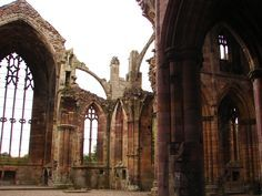 Melrose Abbey. Burial place of the heart of King Robert Bruce.  Photo credit Lady Glynstewart.