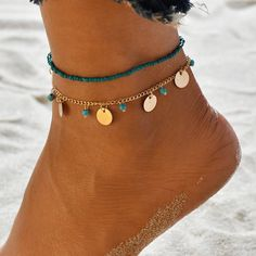 MissCyCy Bohemian Beads Ankle Bracelet for Women Leg Chain Round Tassel Anklet Vintage Foot Jewelry Accessories MissCyCy Bohemian Beads Ankle Bracelet for Women Leg Chain Round Tassel Anklet Vintage Foot Jewelry Accessories Foot Bracelet, Anklet Bracelet, Beaded Bracelets, Charm Bracelets, Leg Chain, Ankle Chain, Beach Foot Jewelry, Fashion Jewelry, Women Jewelry