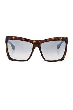 e216c521cdd Image 1 of Balenciaga Shield Sunglasses in Dark Havana Balenciaga Sunglasses
