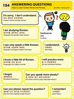 Learning Korean - answering questions.