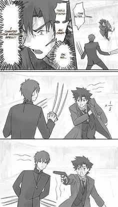 """""""Wrong spell"""" Comic Link, Type Moon Anime, Fate Stay Night Anime, Twist Of Fate, Fate Servants, Fate Anime Series, Short Comics, How To Make Comics, Fate Zero"""