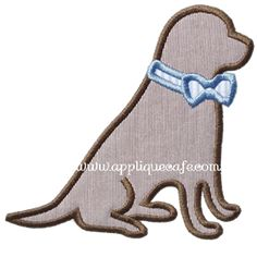 Southern Dog Applique Design