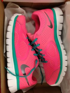 pink nikes awesom neon, shoes, workout shoe, style, sons, neon colors, fitness motivation, running, pink nike