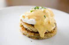 Fried Green Tomato Eggs Benedict with Blender Cajun Hollandaise