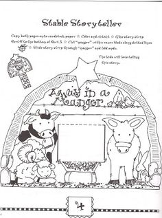 Stable - story teller - w story strips - Creative Kidstuff: 12 Days of Christmas - Day 8: Baby Jesus