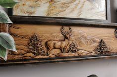 Deer Season Fireplace Mantel or Shelf