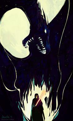 star wars - dead star dragon by shorelle.deviantart.com on @DeviantArt