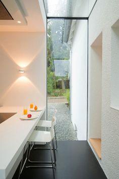 modische hauserweiterung esszimmer küchenbereich extravagant schlicht
