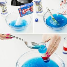 Make 4th of July Jello Shots with this recipe.