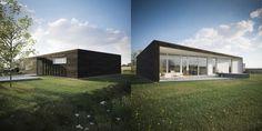 Une maison solaire passive au Royaume-Uni, façades sud et nord Urban Farming, Permaculture, Architecture, Techno, Facade, Mansions, House Styles, Outdoor Decor, Modern Houses