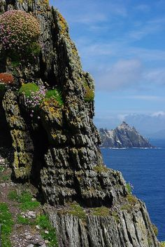 Skellig Michael, Ireland - this inaccessible rock off the coast of Kerry boasts an amazing monastery that clings to the vertinginous sides. David L Macaulay