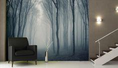 Hazy Mist Forest Wall Mural from http://www.wallpaperwallmurals.com
