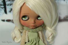 OOAK Custom Tan Blythe Doll White Alpaca Reroot Melody by Helloblythe   eBay
