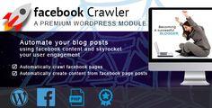 Facebook Crawler for Wordpress - https://codeholder.net/item/wordpress/facebook-crawler-wordpress