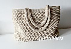 crochet bag -Crochet patrones Crochet bolso patrón totalizador por isWoolish