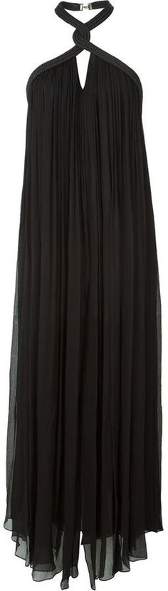 Jay Ahr rope detail halterneck dress - $2,418.26