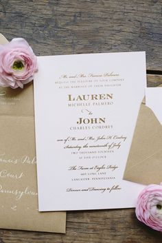 Lovely invitations: http://www.stylemepretty.com/pennsylvania-weddings/lancaster/2015/04/17/elegant-and-contemporary-summer-farm-wedding/ | Photography: Brooke Courtney - http://www.brookecourtney.com/