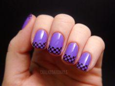 purple racing nails