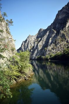 If you are spending a few days in Skopje, visiting Canyon Matka is also a must! You can take a walk along the rock walls to the sma. Macedonia, Double Kayak, Kayak Rentals, Small Boats, Travel Europe, Early Morning, The Rock, Travel Guides, Kayaking