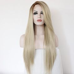 Ebingoo Blonde Lace Front Synthetic Wigs Natural Straight Heat Resistant Hair... #Ebingoo