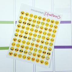 New to JLynnPaperCo on Etsy: 90 Kawaii Emoji Stickers Kawaii Cute Stickers Planner Stickers Pretty  Erin Condren ECLP (2.00 USD)