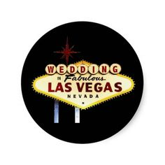 Glow WEDDING In Fabulous Las Vegas Sticker