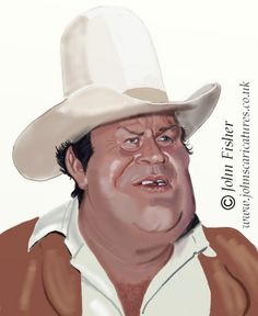Dan Blocker aka Hoss Cartwright (by John Fisher)