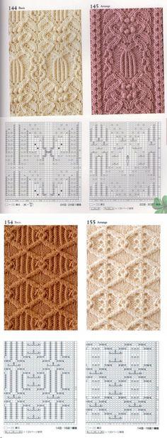 Коллекция арановых узоров для спиц