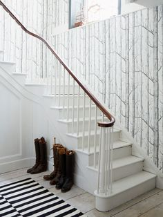Wallpaper Staircase Hall Wood Online Cole