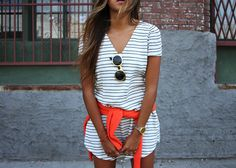 striped cover-up / summer dress .