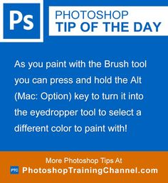 As you paint with the Brush tool you can press and hold the Alt (Mac: Option)…