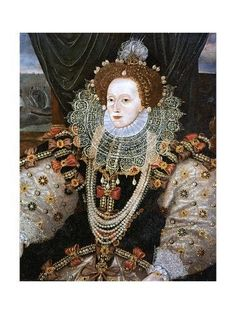 In the century, Elizabeth I took over after Mary Tudor and reigned from Back then, led-base make-up was used by some women; which caused lots of other health complications, which ultimately is what killed Queen Elizabeth I. Mary Queen Of Scots, Queen Elizabeth 1, Queen Mary, Elizabeth First, Tudor History, British History, History Medieval, Rey Enrique, Dinastia Tudor